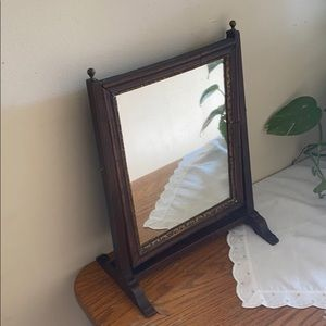 Antique swing wooden mirror
